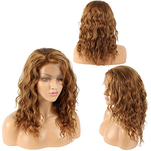 Ivan Cosmetic Synthetic Lace Front Kanekalon Fiber High Temperature Resistant BOB Wigs With Baby Hair Pre Plucked Hair For All Skins Women.(Dark Blond,14