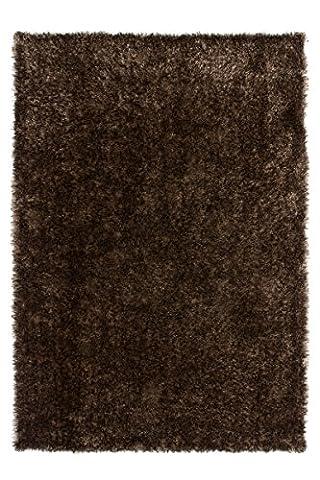 Teppich Wohnzimmer Carpet modernes Design Hochflor Langflor RUG Diamond 700 Karamell 160x230cm | Teppiche günstig online