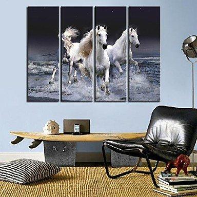 toiles-art-animal-un-pentium-cheval-ensemble-de-4-12-x-35