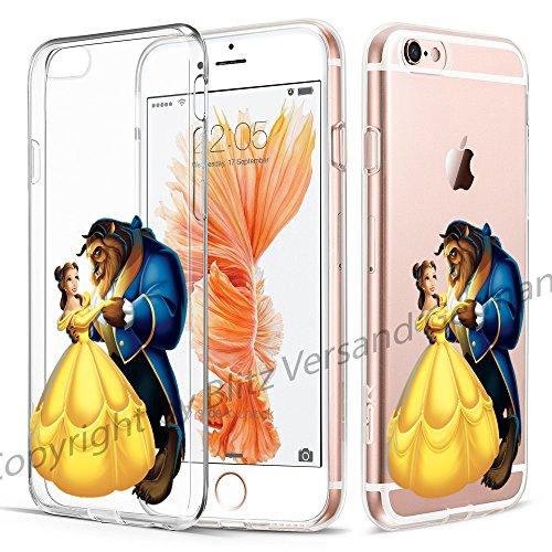 Preisvergleich Produktbild Blitz®Die Schöne und das Biest Schutz Hülle Transparent TPU iPhone M14 iPhone 6 6s