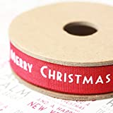 East of India NEW FOR 2011 Red Merry Christmas Ribbon