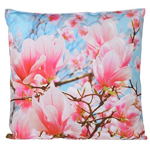 Pastell-magnolia (Bada Bing Outdoor Kissen Dekokissen Blütenzauber Magnolien 45 x 45 Wasserabweisend)