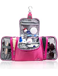 Travando ® XXL Kulturbeutel zum Aufhängen für Damen | Große Kosmetiktasche mit extra vielen Fächern | Waschtasche | Beauty Case | Kulturtasche | XL Waschbeutel, Reise Toilettentasche