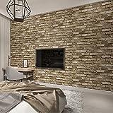 La carta da parati strutturata del mattone d'annata moderno per le pareti ha impressionato i rotoli di carta della parete 3D per il fondo del sofà TV del salone della camera da letto, 200 * 140
