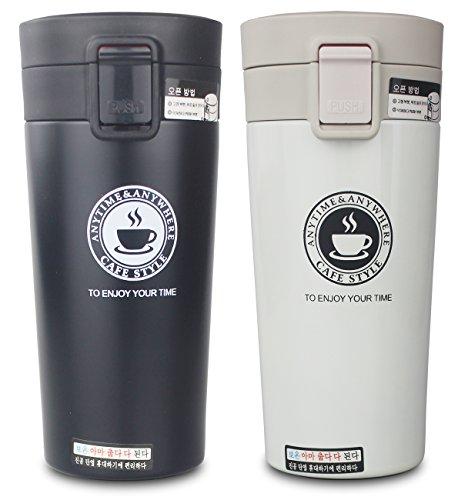 Doble y doble pared termo thermoses térmica de acero inoxidable taza