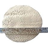 Karen Baking herzförmige Werkzeuge Kuchen-Fondant Geprägte Rolling Pin Prägezuckerfertigkeit Dekorieren