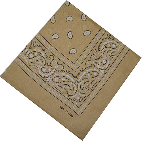 Bandana 100% Coton Original Paisley Foulard accessoire Bandeau cheveux Echarpe Mouchoirs Homme Femme Enfa