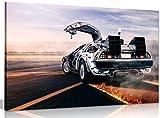 """""""Back to the Future"""" Zurück in die Zukunft Leinwand-Kunstdruck, Bild, A0 91x61cm (36x24in)"""