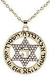 """El judaísmo estrella de David Colgante con """"hay collar judío joyería hombres mujeres regalo"""