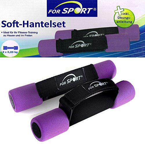 Soft-Hantelset 2 x 0,25 kg von For Sport