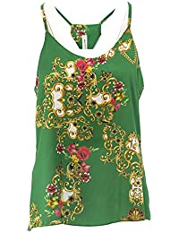 T E Amazon Donna Italy Made it Bluse In Top Verde Shirt Sq6aUX