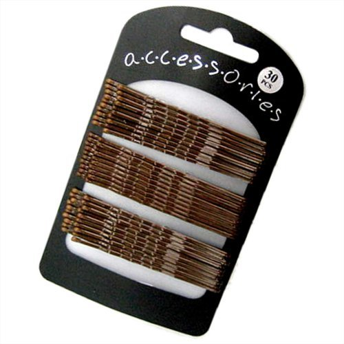 30-extra-long-brown-traditional-kirby-hair-grips-slides-clips-pins-7cm