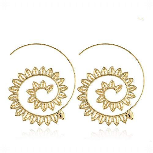 E-Z Stilvolle Einfachheit Geschenkidee für Frauen Whirlpool Getriebe Mesh Ohrringe Runde Schraube in Europa, die Vereinigten Staaten Lässt Übertrieben Ohrringe Ohrschmuck -
