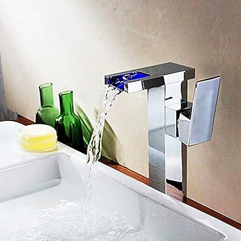 jiayoujia bancone a cascata LED moderno rubinetto miscelatore monocomando per