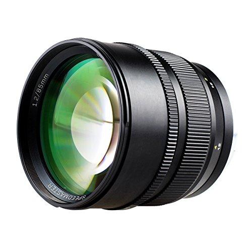 Zhongyi Festbrennweite 85mm F1.2 manuelles Vollformat Objektiv mit Canon EF Bajonett für 600D/750D/1000D/1200D/70D/1D/5D Mark III/7D Mark II