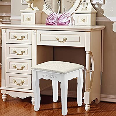 AllRight Dressing Table Stool Baroque Padded Piano Chair Makeup Seat produced by OEM - quick delivery from UK.