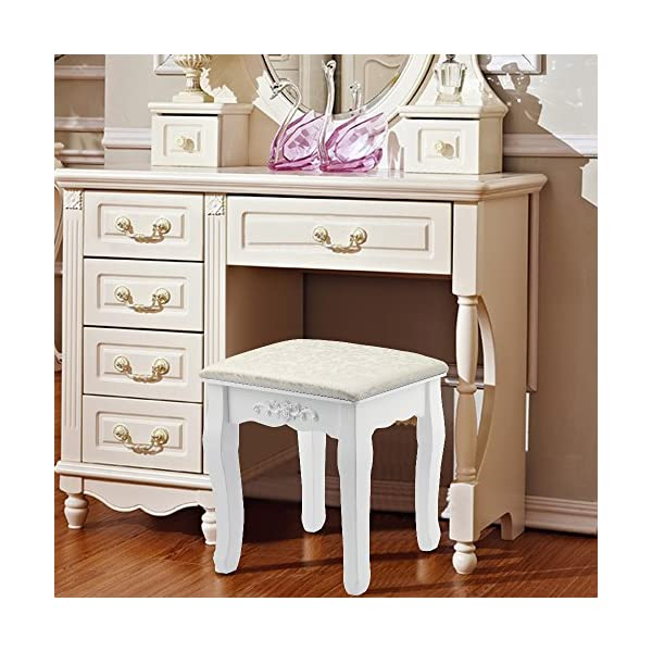 AllRight Dressing Table Stool Baroque Padded Piano Chair Makeup Seat