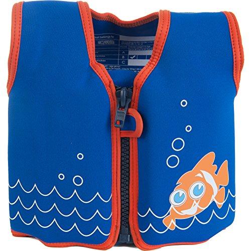Die original Konfidence Kinder Schwimmweste, unisex, Original, Fuchsia Wave,18 monate-3 Jahre Scoot the Clownfish