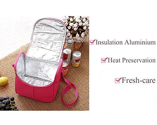 Stripe, borsa termica per il pranzo con tracolla cerniera Cooler picnic bag per unisex da viaggio ufficio scuola all' aperto Blue Blue