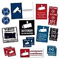 18 Stück Aufkleber Set Videoüberwacht Alarmgesichert viele Varianten & Größen Warnzeichen Sicherheit Schutz vor Einbrecher