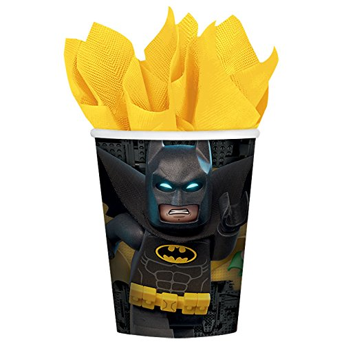 Amscan International - 581709 Batman Lego vasos de papel 266 ml