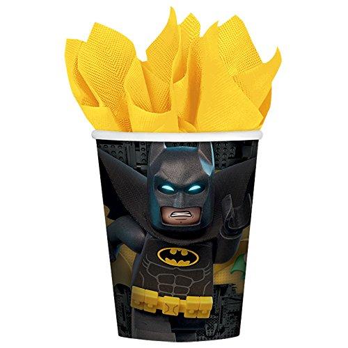 Amscan International-581709Batman Lego vasos de papel 266ml