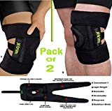 #1: DURAFIT SPRING KNEE BRACE - (Pack of 2) NEOPRENE Knee Support for MEN & WOMEN - Open Patella with Adjustable stretchy hook and loop closure - Anatomically tailored Pads Surrounds the Knee cap -with Adjustable Strapping - Lightweight - Breathable - Non-Slip -Soft - Strong - Washable - Comfort Fit Knee Brace - Best For Arthritis, Sports, Exercise and Running - Men & Women Braces - Maximum support & more Natural movement