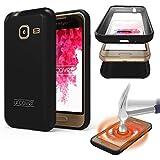 Urcover Funda Compatible con Samsung Galaxy J1 Mini Mejorada Carcasa Completa 360 Grados TPU + PC Crystal - Negro