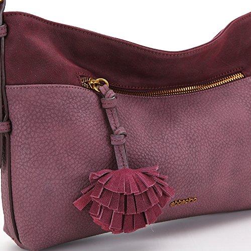 Abbacino - Lauren, borsa Donna Rosso (Bordeaux)