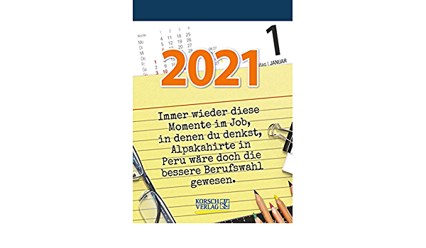 Visual Words Office   Calendar 2021   Korsch Verlag   Daily