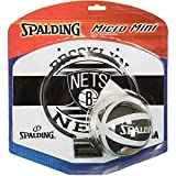 Spalding NBA Team Miniboard Verschiedene Teams mit Ball (one Size, Brooklyn Nets)