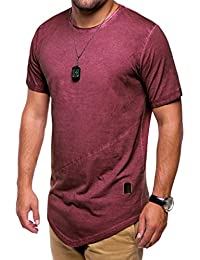 MT Styles Oversize T-Shirt style washed manches courtes homme C-9022