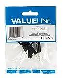 Valueline - Cable Divisor De Audio Jack Estéreo De 3.5 Mm Macho - 2 3.5 Mm Hembra De 0.20 M En Color Negro