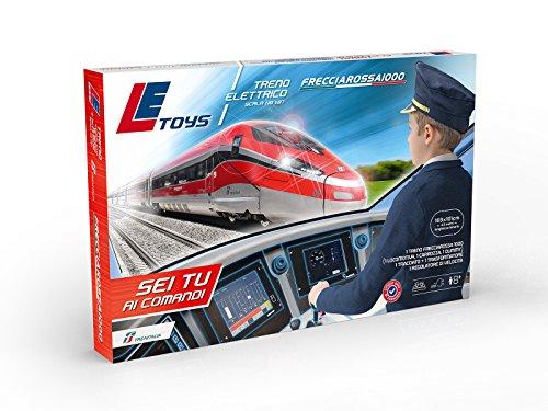 Le toys pista treno frecciarossa 1000 ert400, colore rosso, let13902