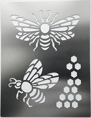 metal-monkey-honey-bee-honeycomb-stainless-steel-stencil-115cm-x-9cm