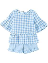 Sanlutoz Niño Chicas Camiseta Ropa y Pantalones Traje de falda corto Set de  2 piezas dcd479cdc9e
