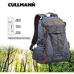 Cullmann Ultralight sports DayPack 300 sac à dos gris/orange pour Canon EOS 1300D 70D M10 Nikon D3300 D5300 D7200 Sony Alpha 6000 Olympus