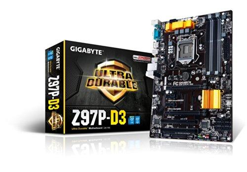 Gigabyte GA-Z97P-D3 Motherboard (ATX VGA, SND, GLN, U3 SATA, 6GB, DDR3 Speicher)