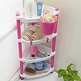 Bodenstehende kunststoff bad regal, 4 regale Folding Bad eckregal, Ideal für küche und bad lagerung-A