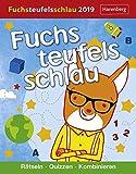 Fuchsteufelsschlau - Rätseln, quizzen, kombinieren - Kalender 2019 - Harenberg-Verlag - Tagesabreißkalender mit Grips für Kids - 12,5 cm x 16 cm