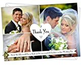 Personalised Wedding Thank You Cards WTY 15 pack of (100)