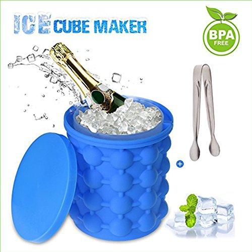 Lucy Deer Kat Eiswürfelbereiter, Love77 Ice Genie Eiswürfelbereiter Dual-Use-Revolutionäre Sparen Sie Raum Silikon Küchenhelfer & Eis Wannen Trinken (Wanne Äußere)