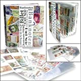 World Banknoten-Album mit 20 Blättern