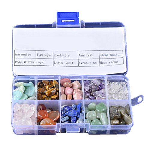 Pietre di cristallo di quarzo con scatola mix pietre naturali burattate pietre preziose per la decorazione dell'acquario salute collana mini formato 120 + pz