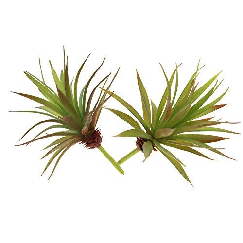 LJY 2Stück künstliche, natur-getreue Pflanzen, nicht eingetopfte Sukkulente / Yucca-Palme fürs...
