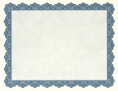 Geographics Optima Blau ZERTIFIKATE mit Gold Folie Dichtungen, 21,6x 27,9cm, blau, 25Pack (40725s) (Gold-folie-zertifikat Dichtungen)