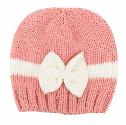 für 0-12 Monate,Amcool Schön Winter Baby Mützen Neugeboren Baby-Mädchen Säugling Kleinkind Stricken Wolle Weich Hut Kappe (Newborn Baby-kappe)