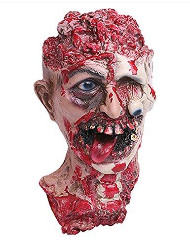 ShallGood Unisex Halloween Kostüm Maske Latex Maske Cosplay Lustig Horrible Stil Alle Heiligen Tag Anime Maske Scary Kaninchen Clown Monster #13 One Size (Hippie Kostüm Diy Für Mädchen)