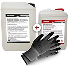 Epoxidharz mit Härter | 10,5kg GfK set | Profi Qualität glasklar & geruchsarm | Gießharz für Holz + Schutzhandschuhe