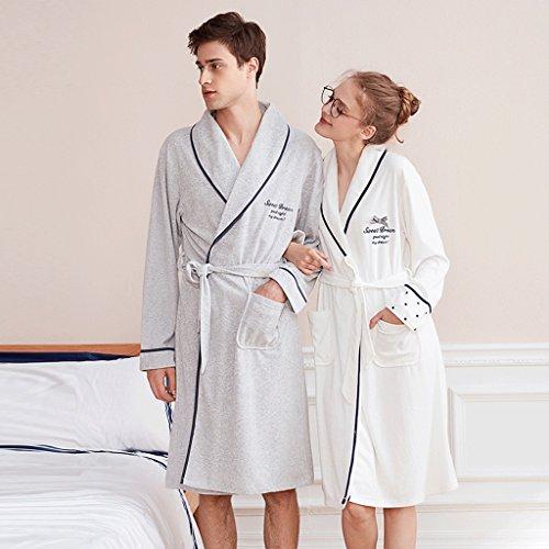 Accappatoi gaolili primavera e autunno coppia lungo tratto uomini e donne sonno vestito a maniche lunghe vestiti da casa pigiama (colore : c: (a: women+b: men), dimensioni : l.)